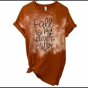Fall is my Favorite Color Handmade Tee Large